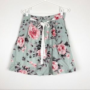 DownEast | Floral Skirt with Pockets and Tie
